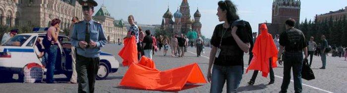 Manfred Grübl, 4 Minuten Moskau Roter Platz, 2005-2007, Fotoinstallation