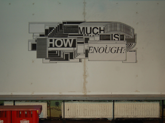 Egor Kraft, How Much is Enough?, 2010
