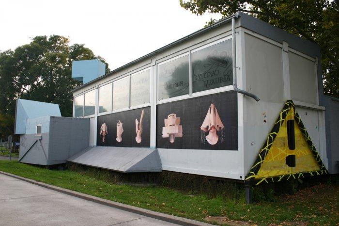 Nikola Hansalik, Untitled. The Muse(um) and I, 2014; Jaime Ruiz Otis, Triangle, 2014