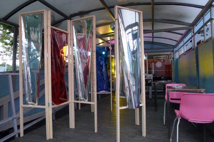 Kirsten Borchert, Ich seh dich nicht, du siehst mich nicht, 2014, Installation