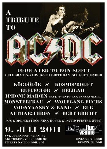 Bild zu A Tribute to AC/DC. Dedicated to Bon Scott Celebrating His 65th Birthday Six Feet Under.