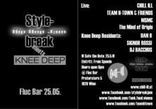 Flyer für 25 Mai Knee Deep & A Scooterist's Night Out & Stylebreak Jam go together Party!