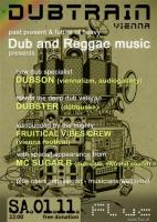 Flyer für 01 November DUBTRAIN