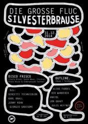 Flyer für 31 Dezember Die GROSSE FLUC Silvester  Wannen-BRAUSE featuring OUTLINE RECORDS