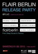 Flyer für 01 August FLAIR BERLIN-Labelnacht