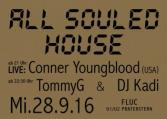 Flyer für 28 September All Souled House mit LIVE: Conner Youngblood