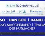 Flyer für 10 December DONAUWELLE