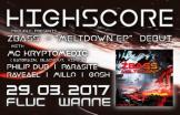 Flyer für 29 March HIGHSCORE x D&B x WEDNESDAY