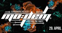 Flyer für 29 April ECHOSPHERE pres. MoDem Festival Pre-Party