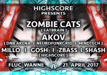 Bild zu HIGHSCORE Friday w/ ZOMBIE CATS, AKOV & many others ..