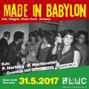 Flyer für 31 May MADE IN BABYLON
