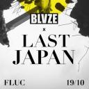 Flyer für 19 October BLVZE X LAST JAPAN