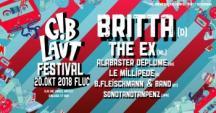 Flyer für 20 October Gib Laut!-Festival