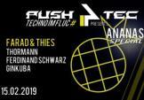 Flyer für 15 February push4tec