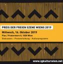 Flyer für 16 October Verleihung des Preis der freien Szene