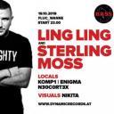 Flyer für 19 October Ling Ling & Sterling Moss