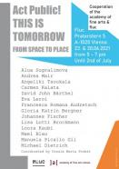 Flyer für 23 June Act Public! THIS IS TOMORROW From Space to Place